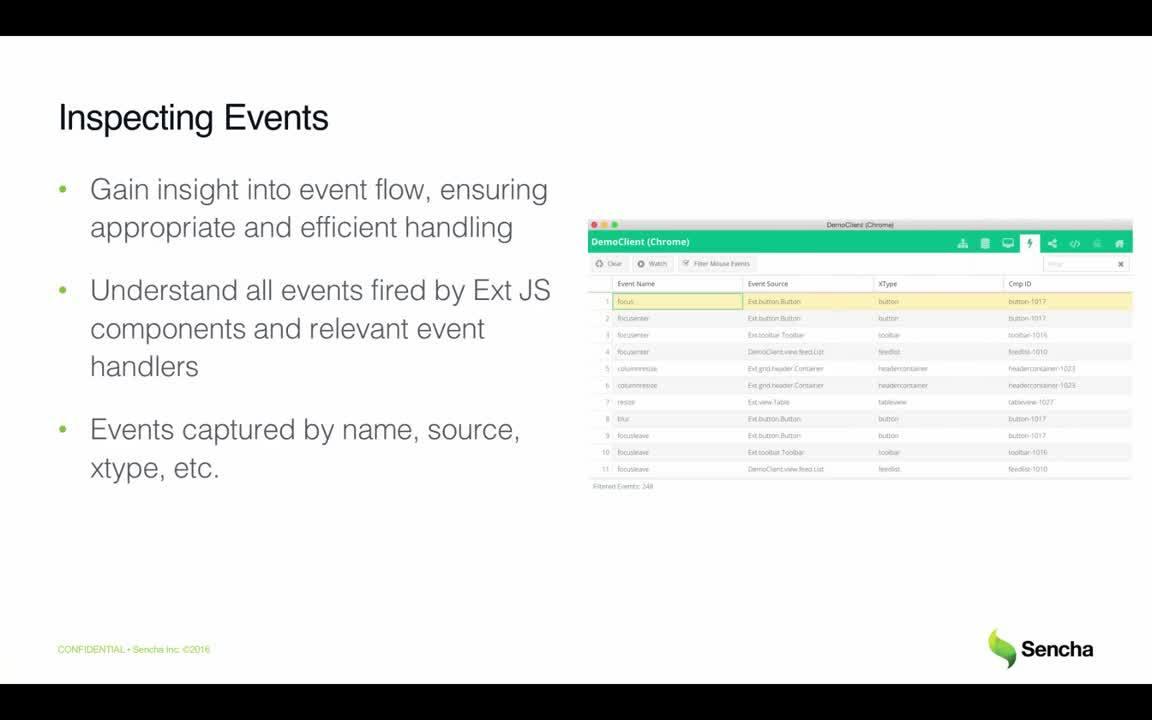 Event Calendar Js : Debugging & inspecting ext js apps with sencha inspector sencha videos