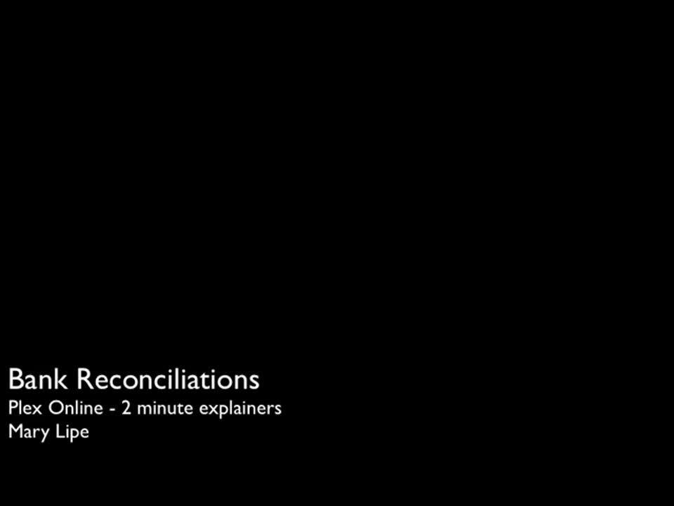 bank reconciliation plex