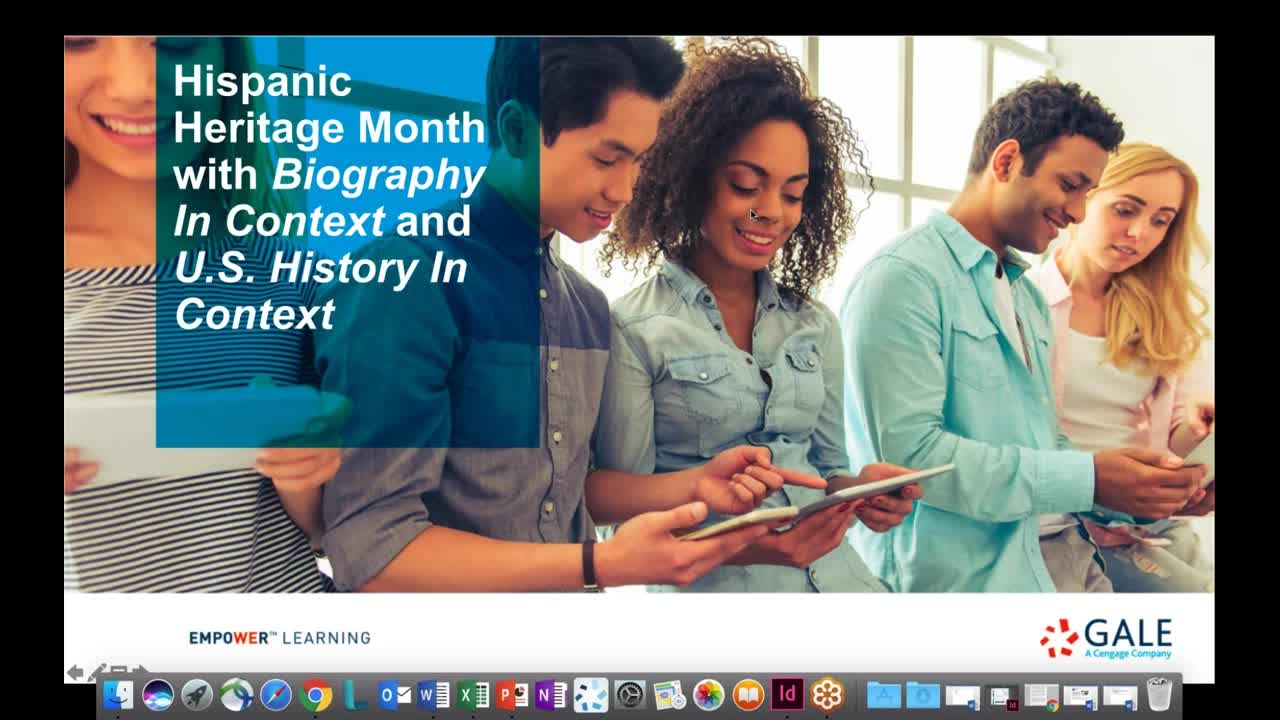 Hispanic Heritage Month with Biography In Context and U.S. History In Context Thumbnail