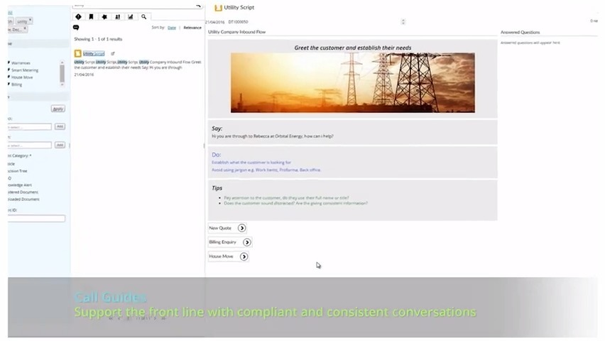 Dynamic Scripting for Utilities Companies