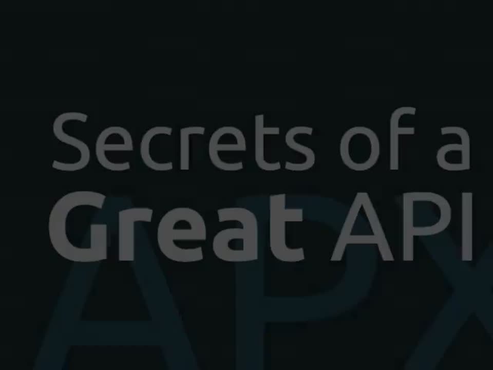 Webinar: Secrets of a great API