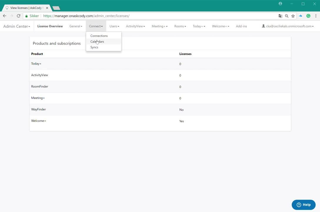 How to add a calendar in connect Manager AskCody 07 08 2018