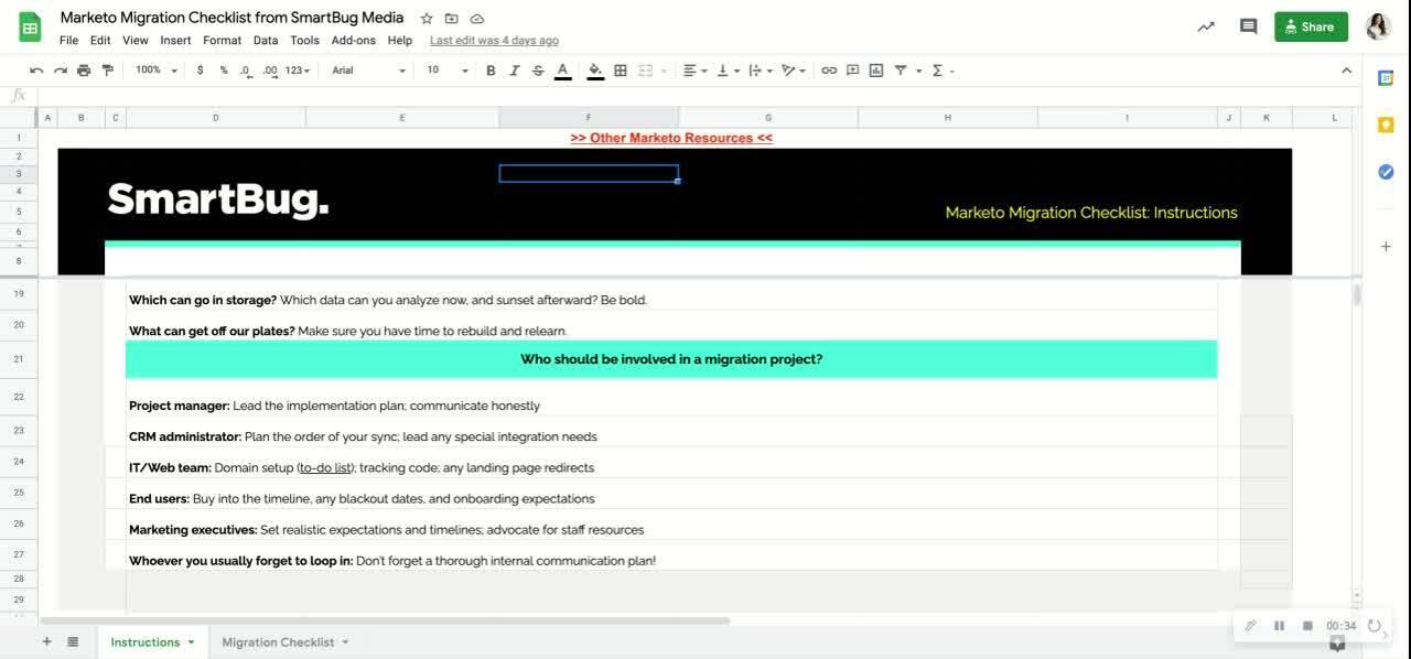 Marketo Migration Checklist