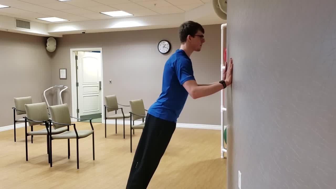 wall push ups hs