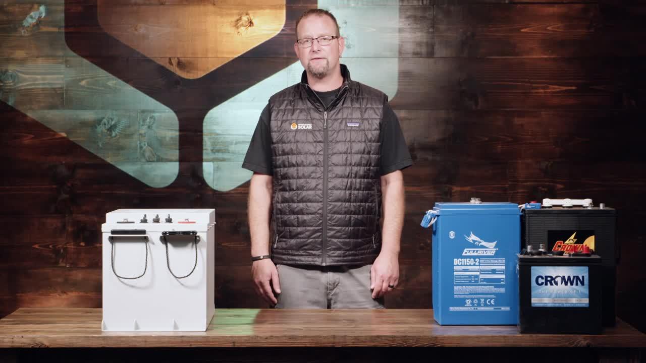 Solar Battery Banks Deep Cycle Batteries 100 Load Center Wiring Diagram Video Thumbnail