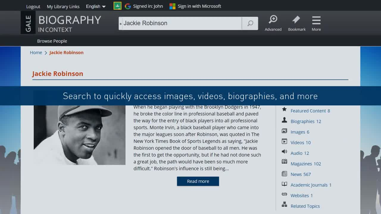 Biography In Context - Classroom Integration Thumbnail