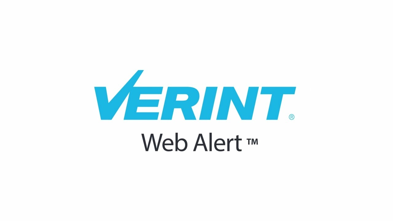 Verint WebAlert - English