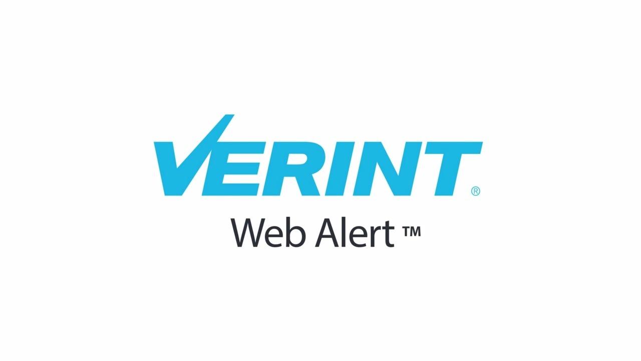 Verint WebAlert - English