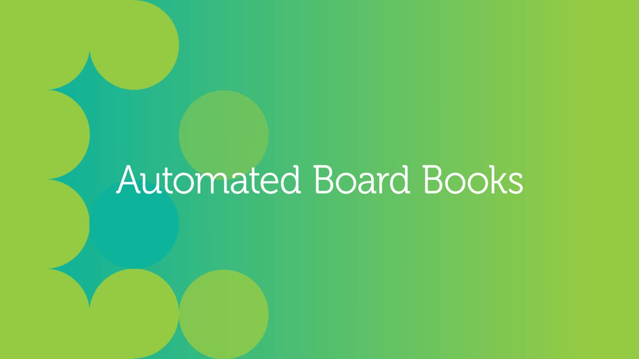 Adaptive Insights Demo 7 - Automated Board Books