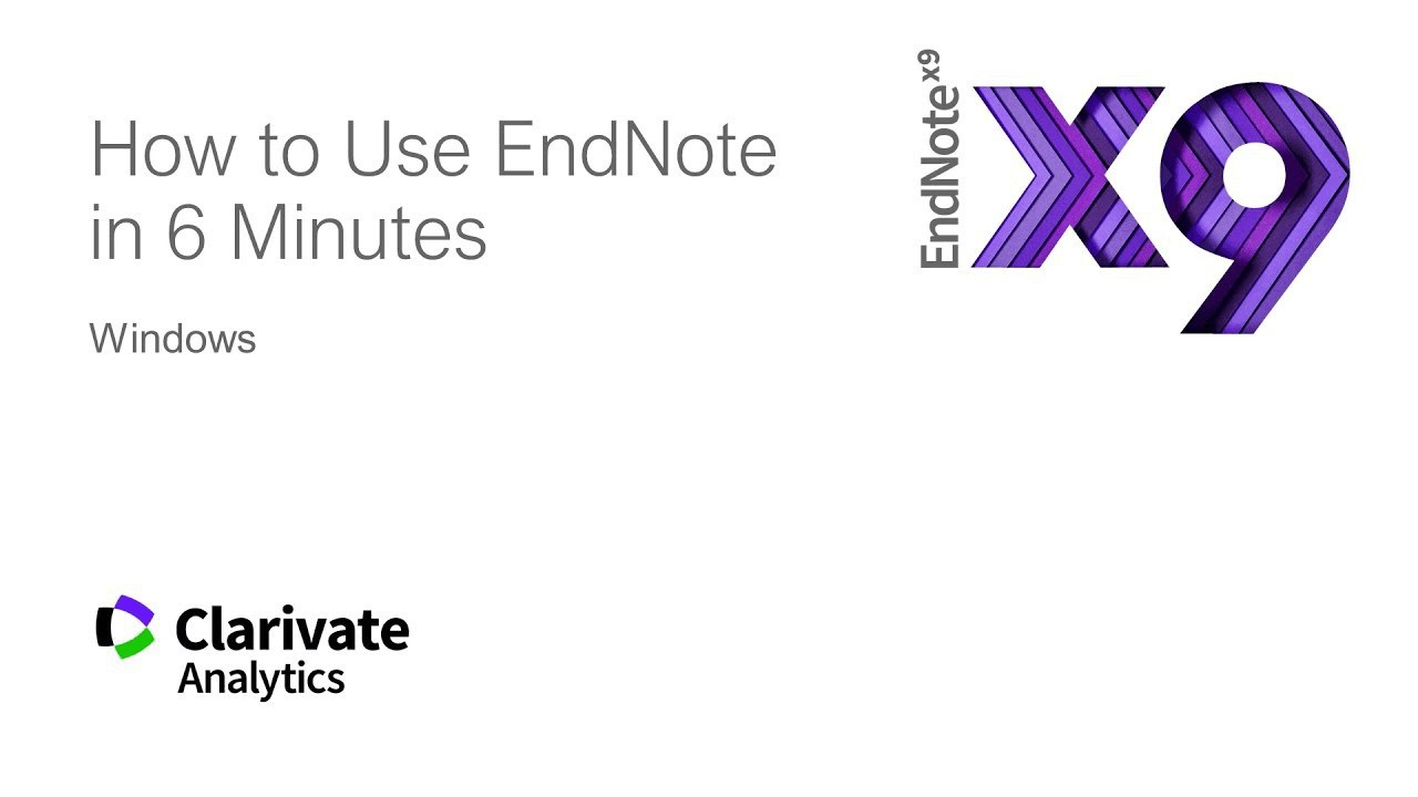 Video: How to use EndNote in 6 minutes