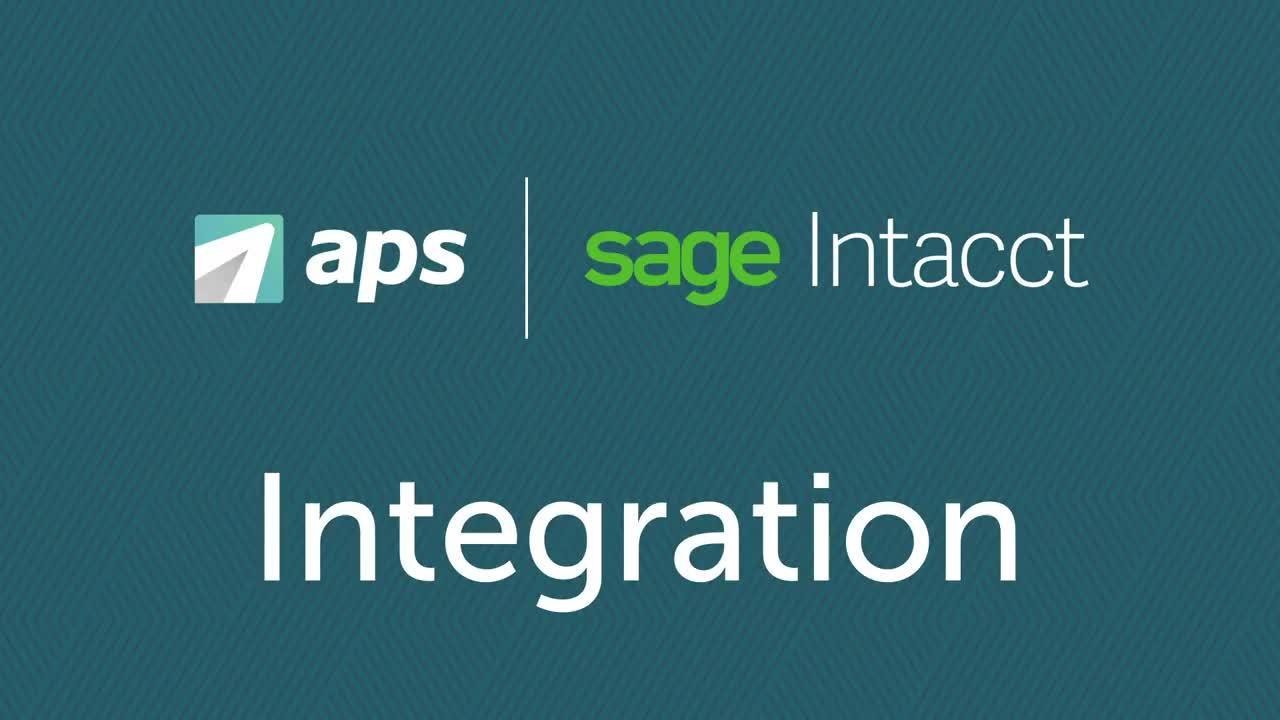 APS Sage Intacct Integration Video