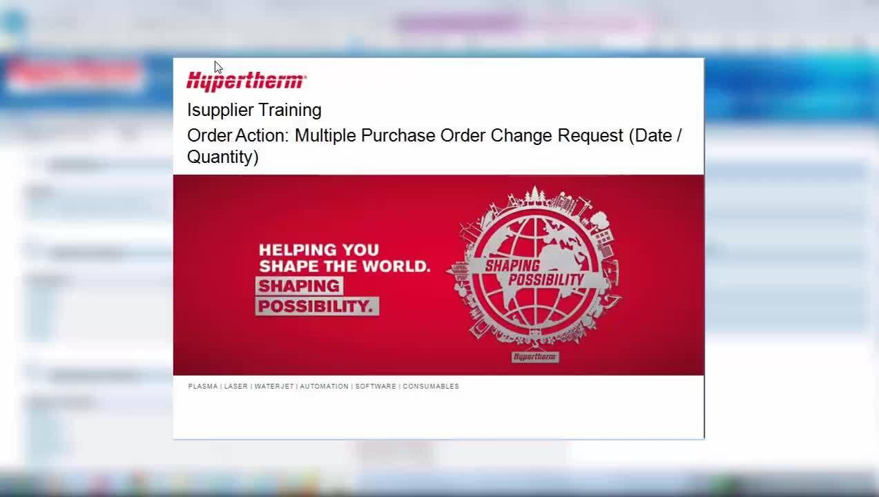 Multiple PO change request