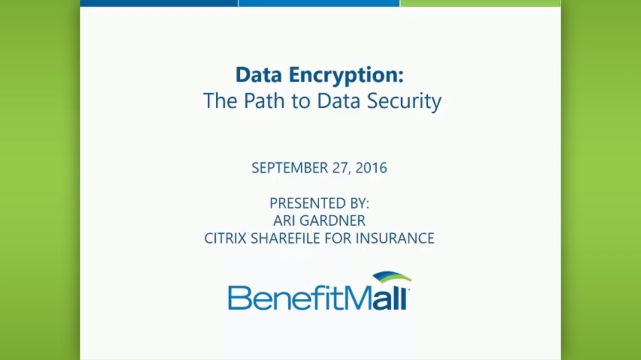CPE WEBINAR - Data Encryption: The Path to Data Security