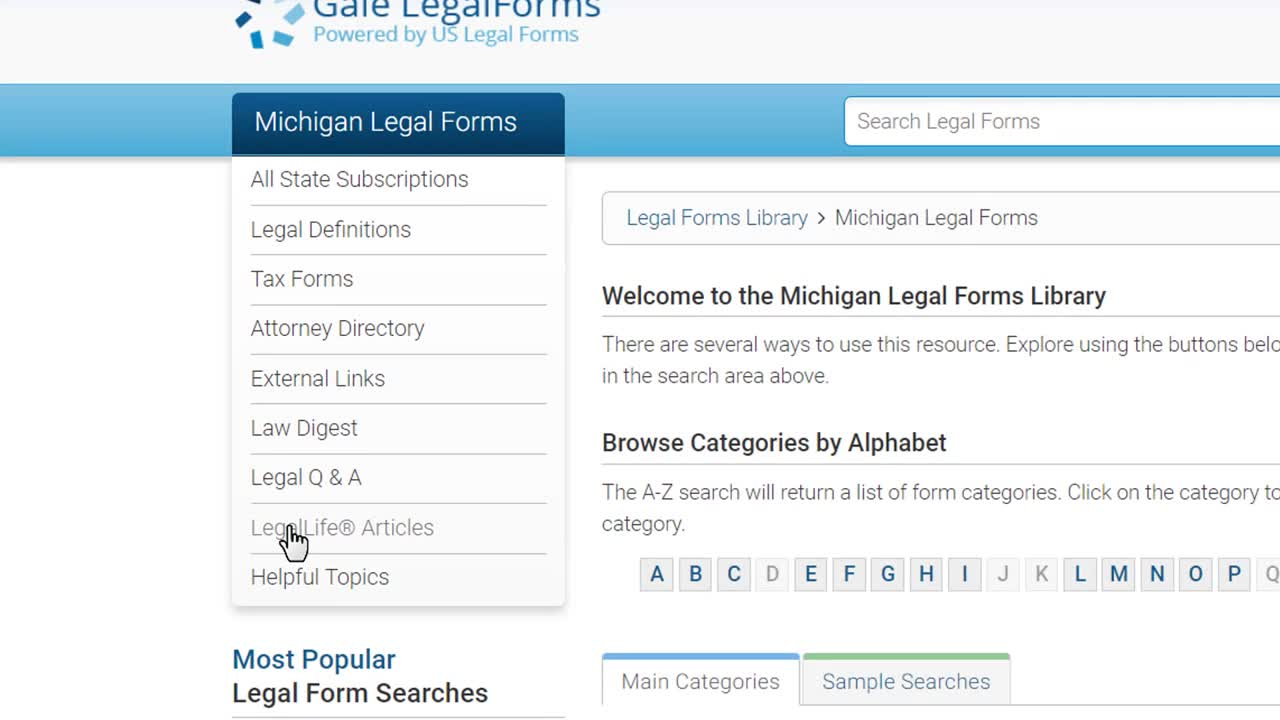 Gale LegalForms - Legal Tools Thumbnail