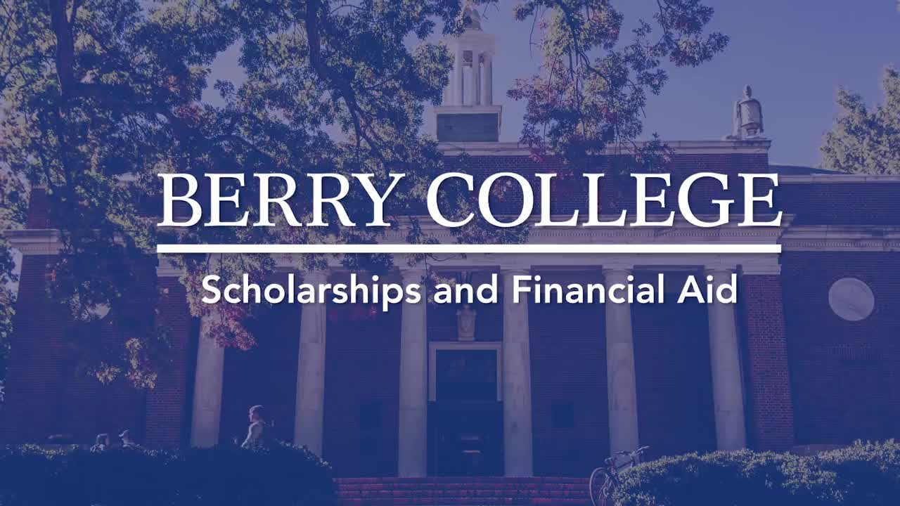Berry College Financial Aid