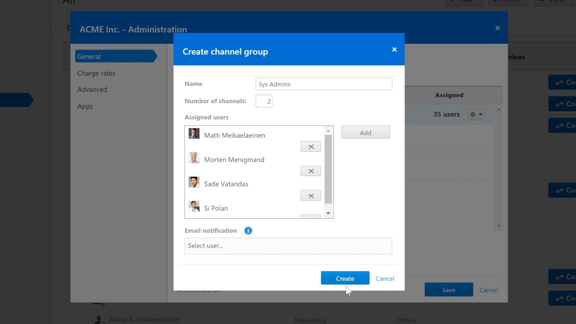 TeamViewer 11 - Channel Grouping