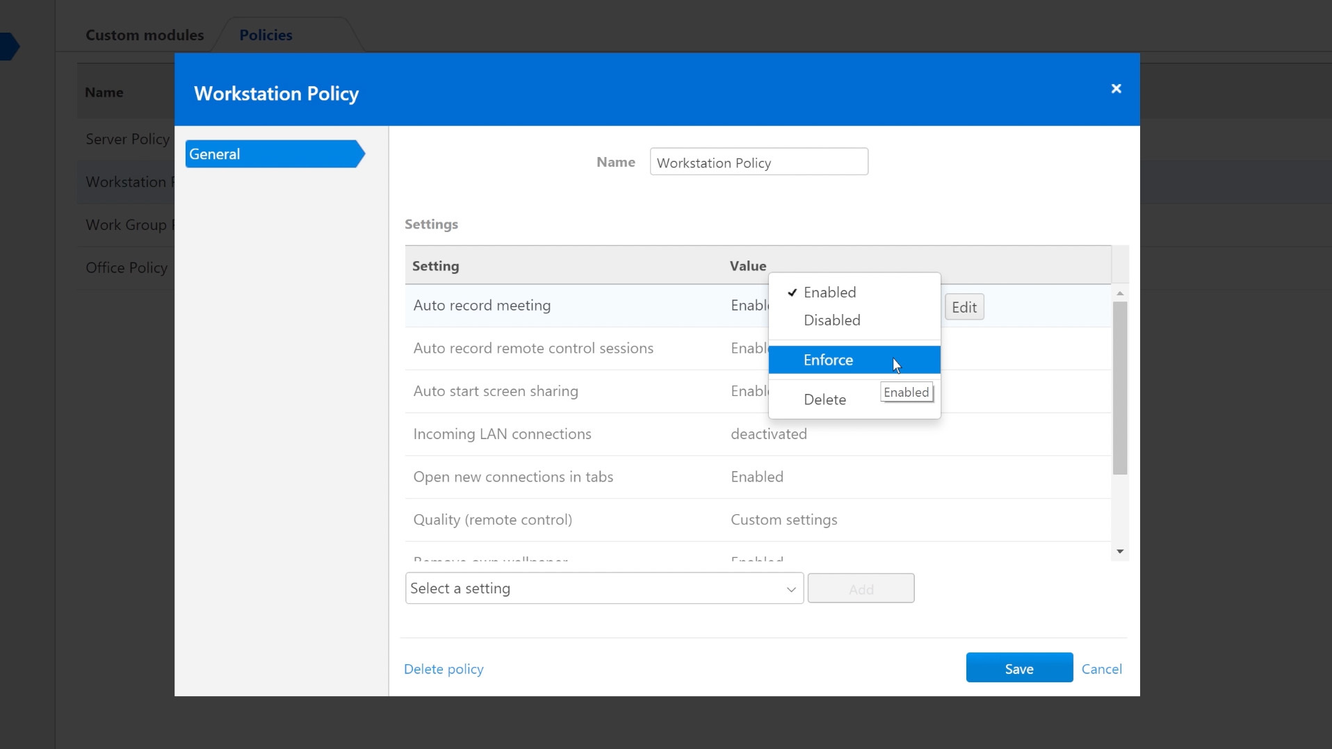 TeamViewer 10 - Enforcing and Bulk Assigning a Central Setting Policy