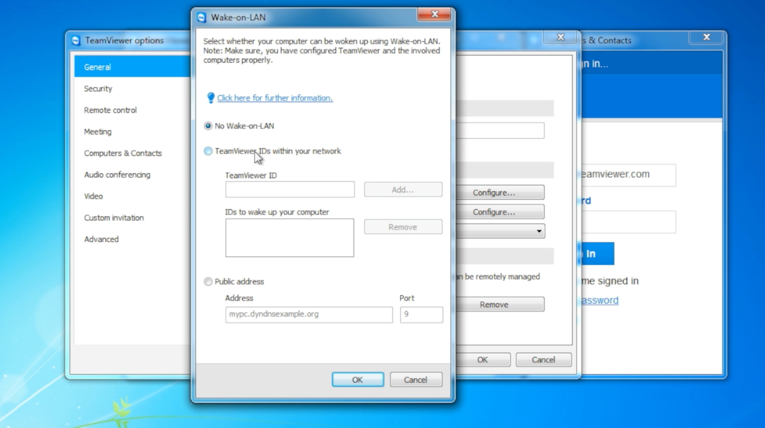 TeamViewer 9 Features: Wake-on-LAN Setup