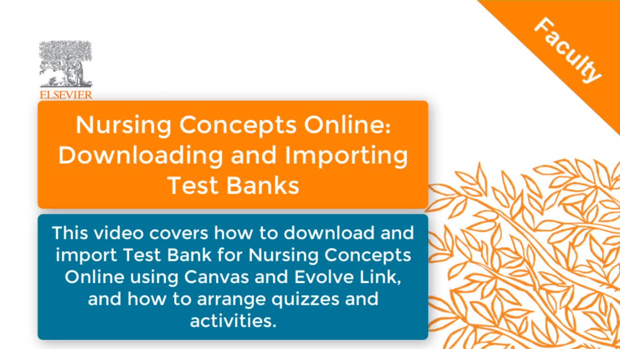 Nursing Concepts Online: Downloading and Importing Test Bank