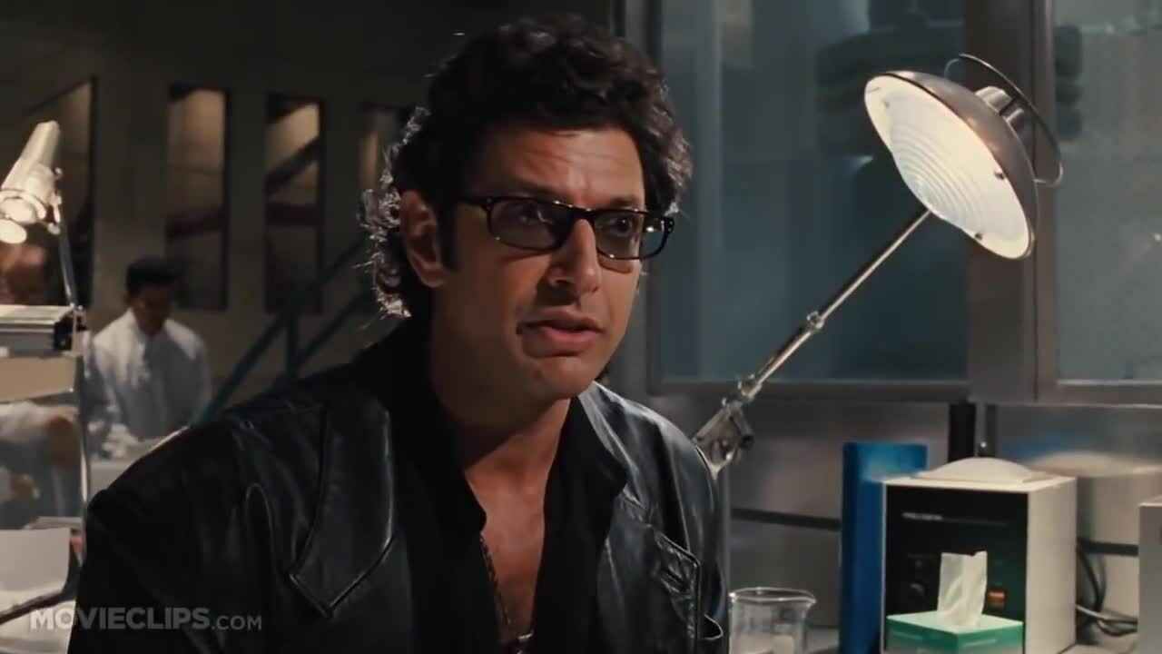 Jeff Goldblum  Life Finds a Way Steven Spielberg Movie HD Jurassic Park  Movie CLIP