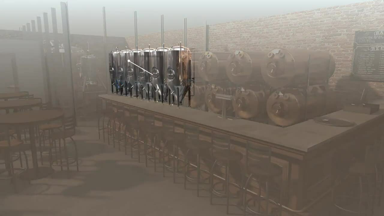 ANIMATION - Standard Brewhouse with Cellar, Serving and Cold Room - Phase 2
