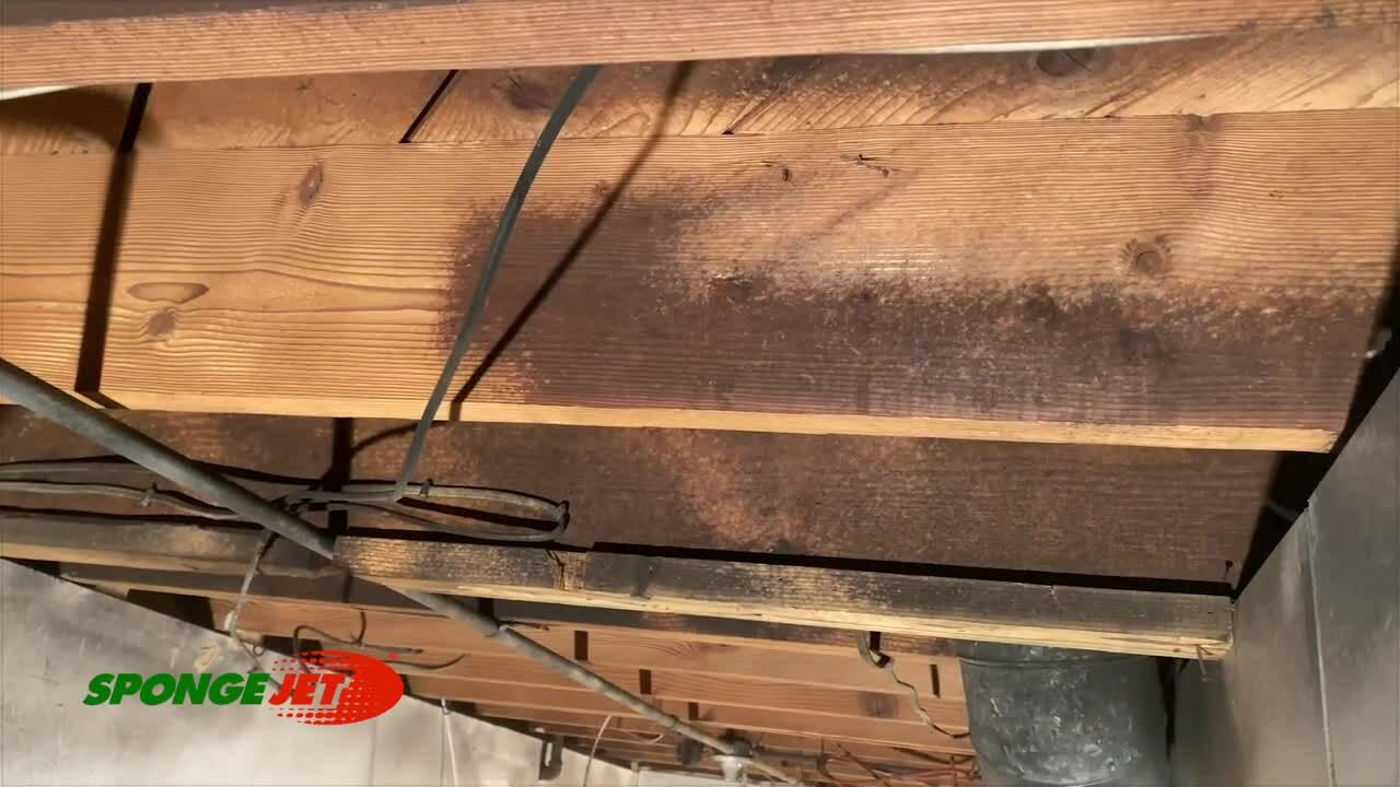 Soot Removal from Joists
