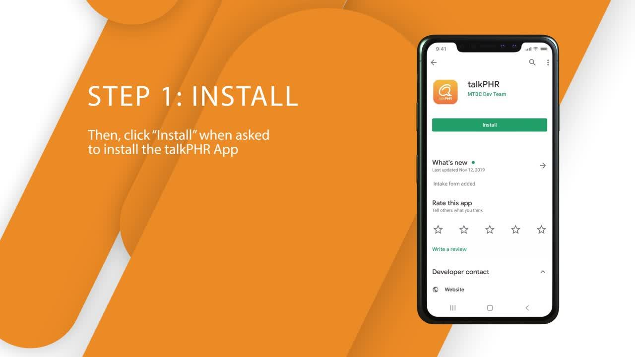 talkPHR Telemedicine App Set-Up Video 2