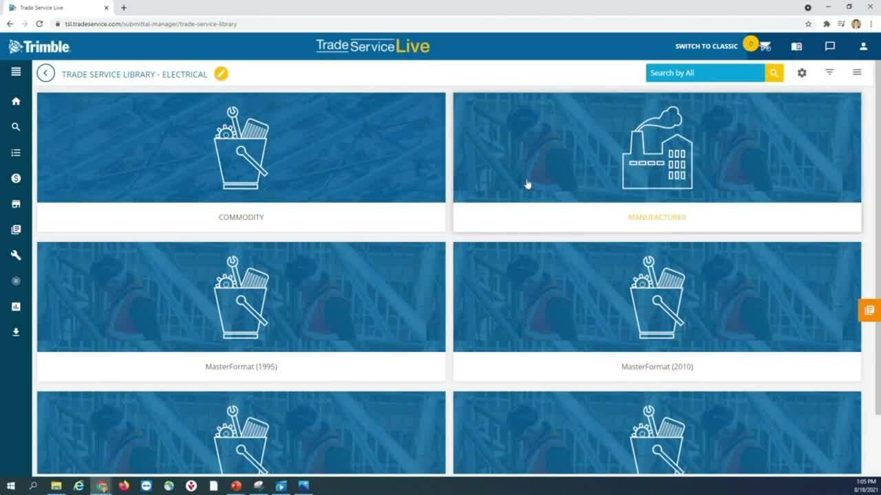 Submittal Manager - Trade Service Document Library Tutorial