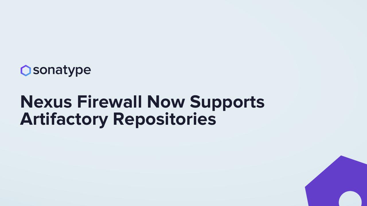 Firewall for Artifactory