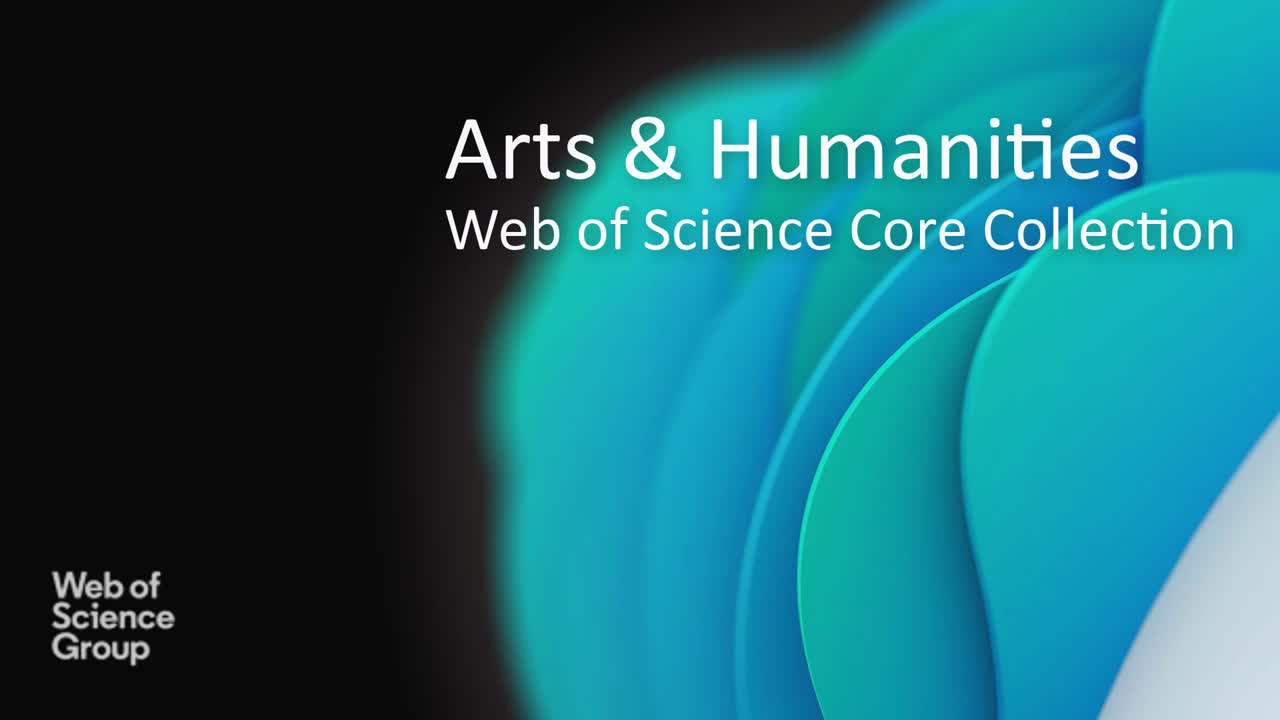 See the power of the Web of Science Core Collection in action for Arts and Humanities