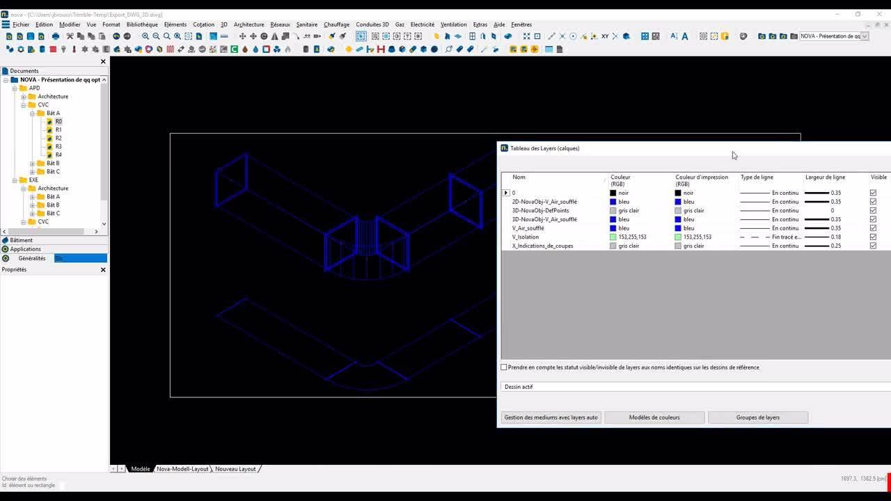 Novatip 15 - Présentations de quelques options de l'application