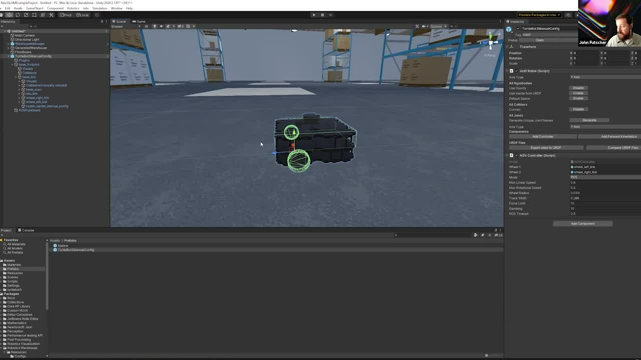 Getting started with Unity Robotics: Autonomous navigation with SLAM and ROS2