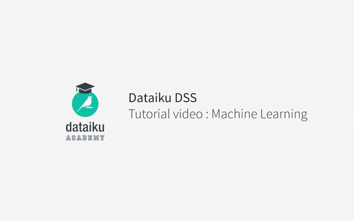 Machine Learning — Dataiku Academy 5.0 documentation