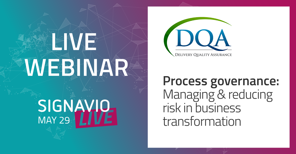Process governance - Managing and reducing delivery risk in business transformation with DQA