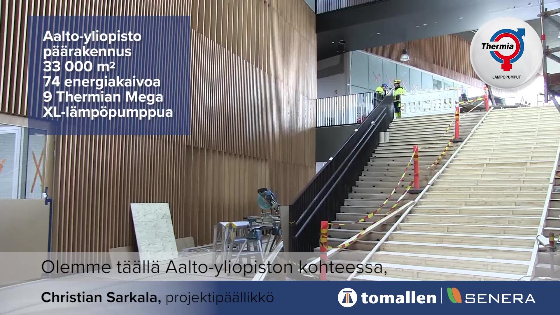 Aalto-yliopiston päärakennuksen maalämpöurakka