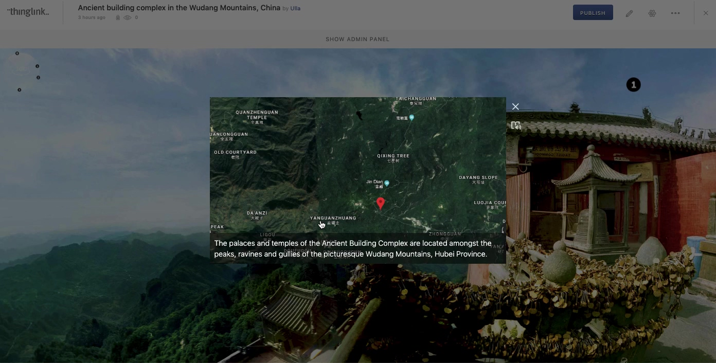 Example 2- Wudang mountains 360 lesson