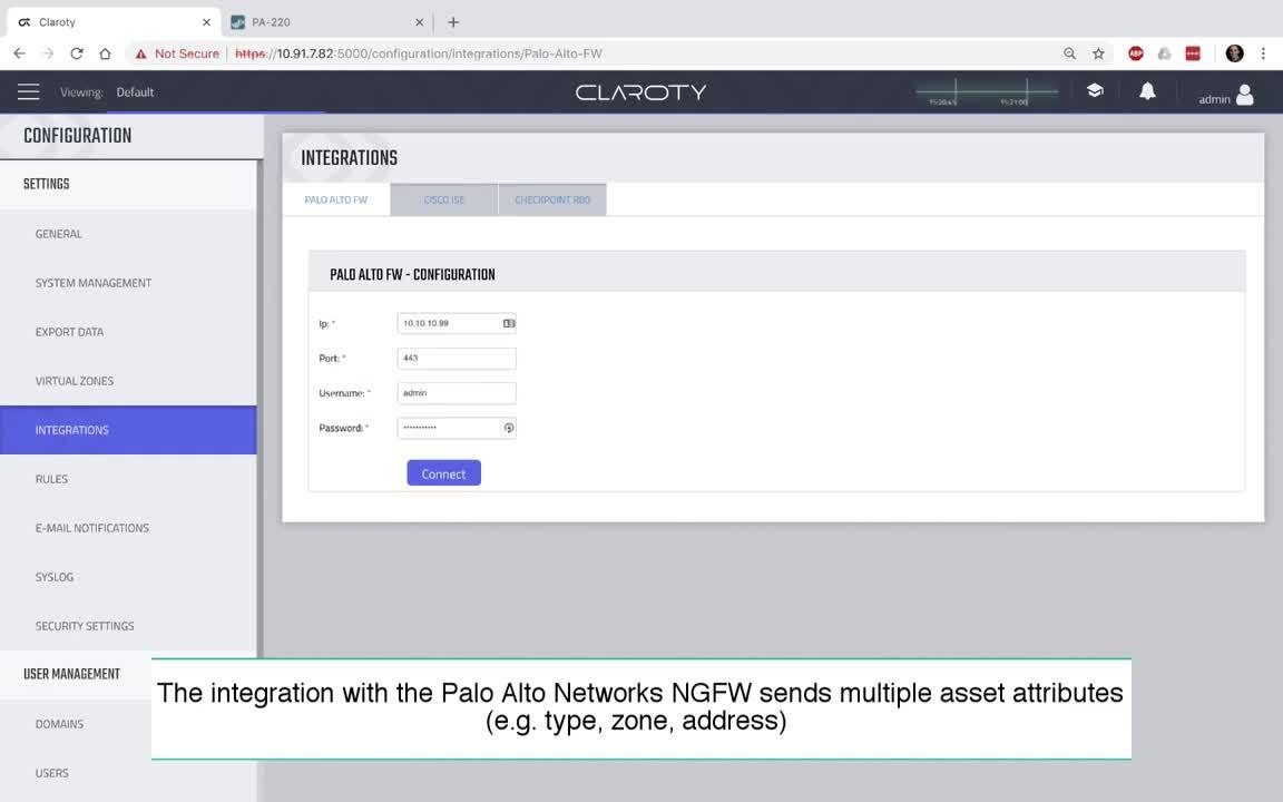 Claroty CTD and PANW Integration Video