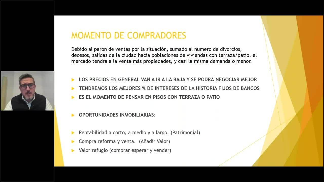 Webinar Oportunidades Inmobiliarias para compradores Enric Jiménez corte