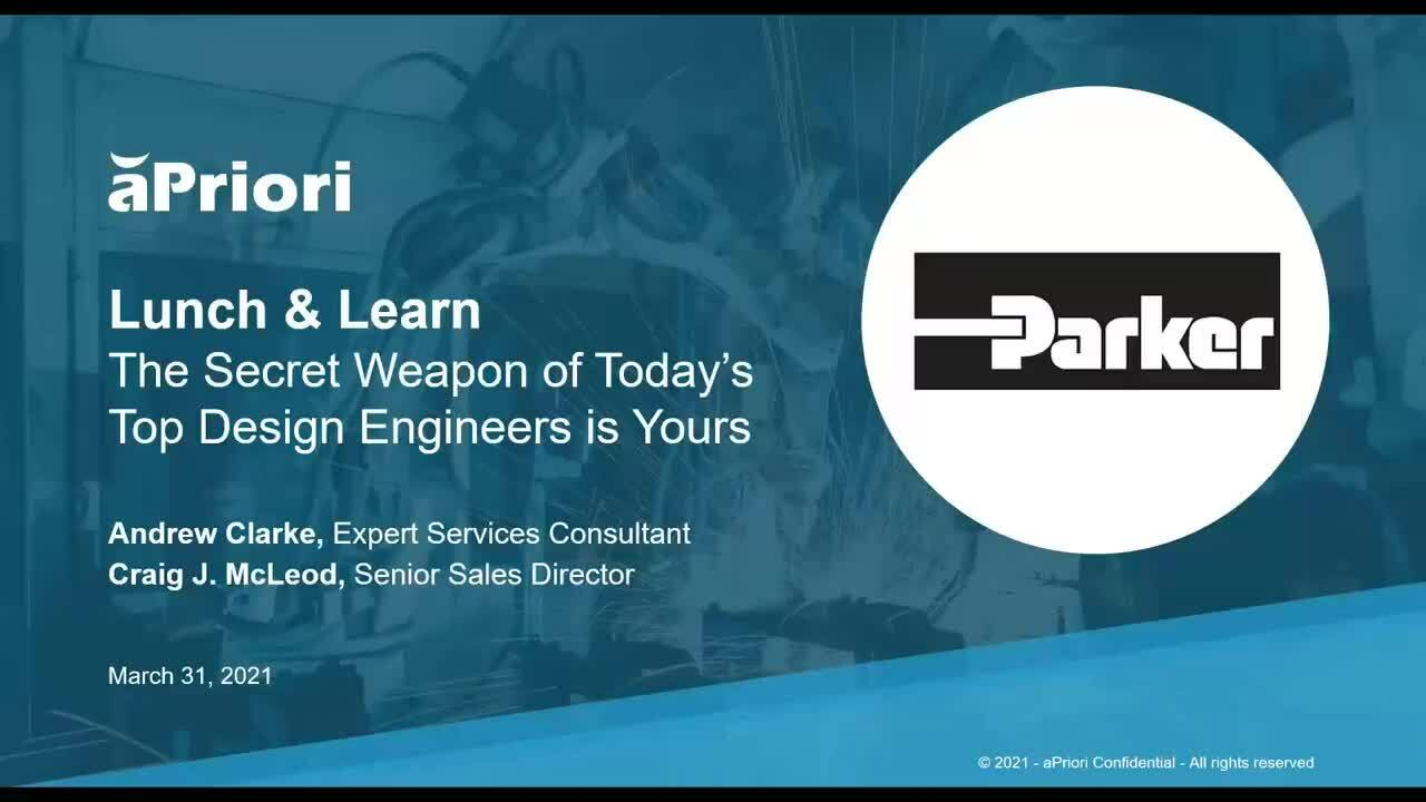 Parker Lunch & Learn: The Secret Weapon of Today's Top Design Engineers is Yours