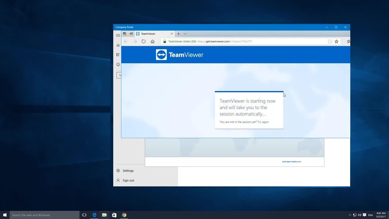 TeamViewer Integration in Microsoft Intune