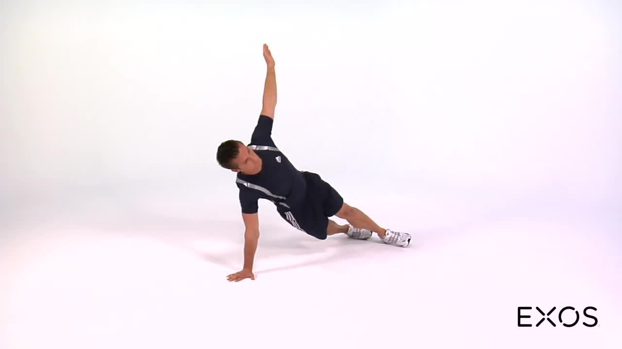 Push Up to Lateral Plank