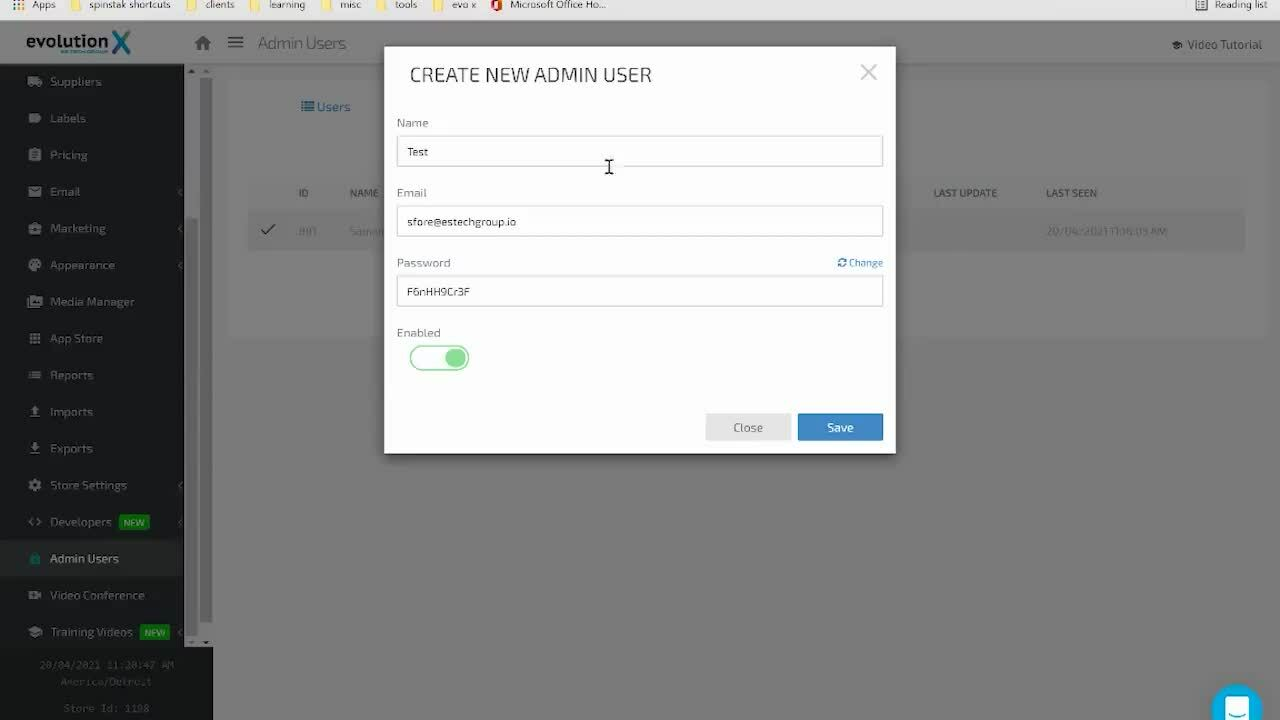 How to Add An Admin User V2 - EvoX Video Practice_1