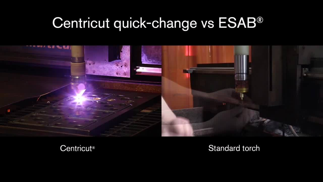 Centricut quick-change torch for ESAB plasma cutting systems