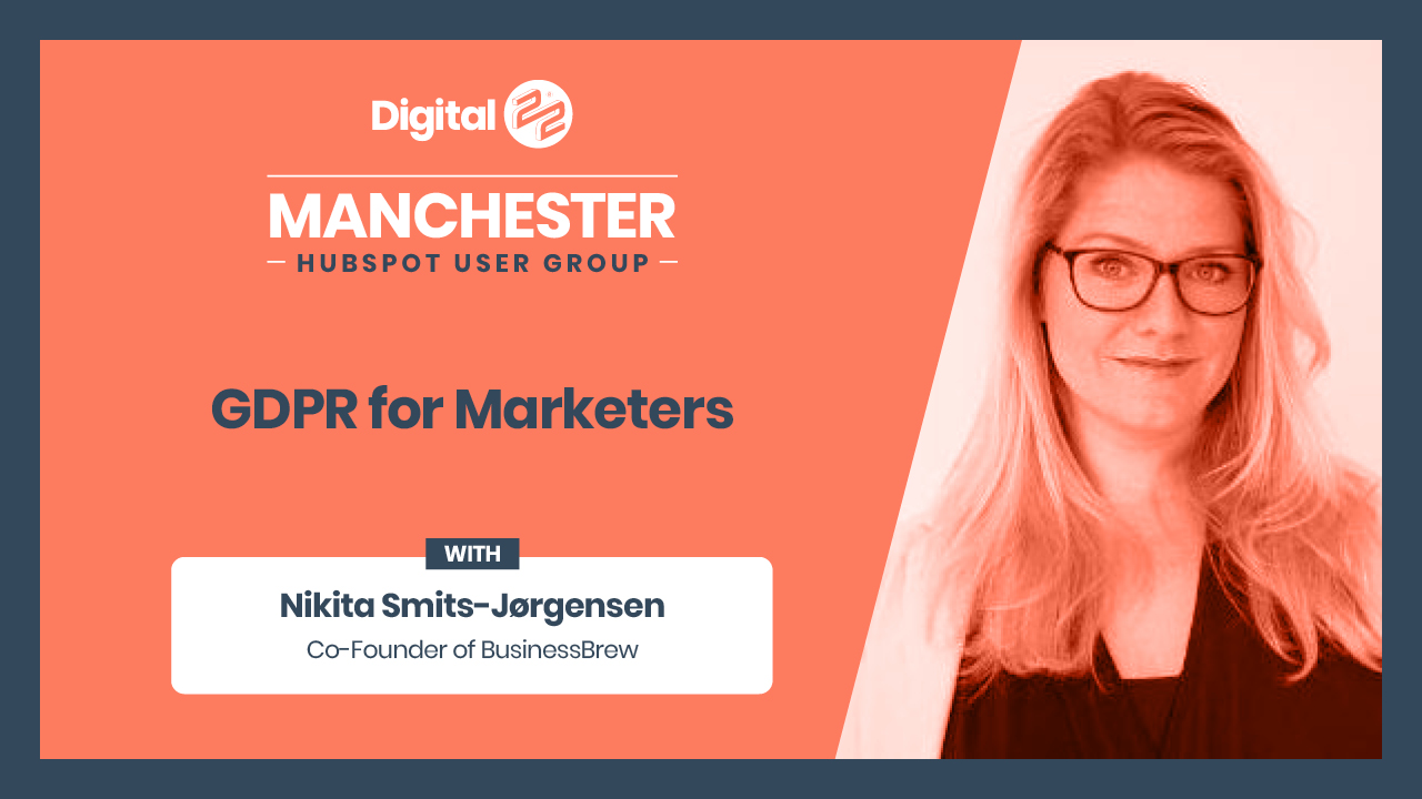 GDPR For Marketers Manchester HUG