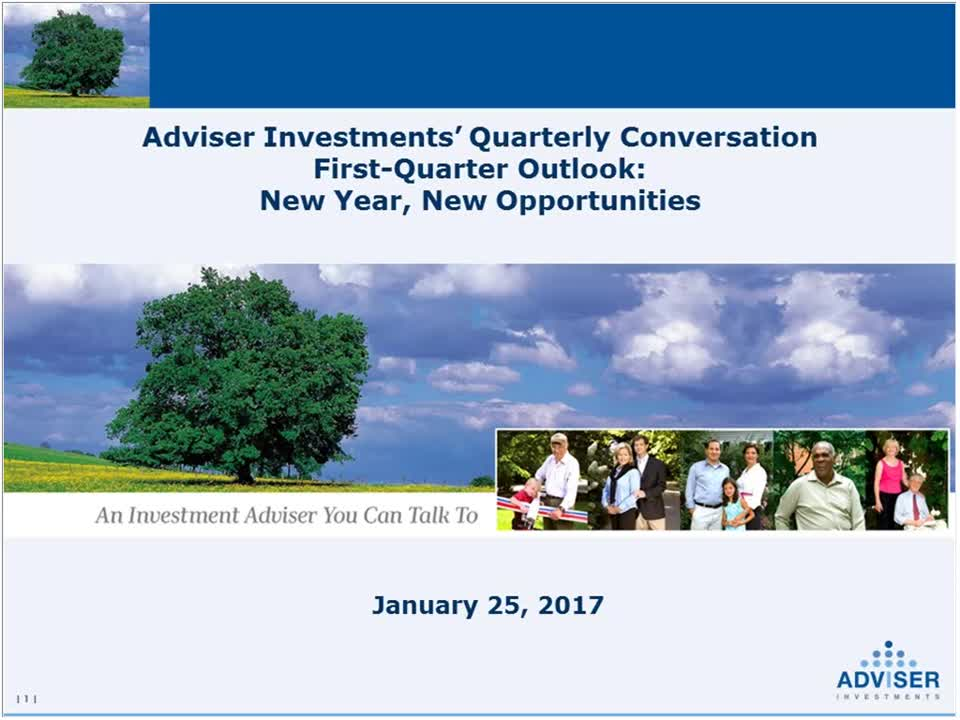 Adviser Investments' First-Quarter Outlook New Year, New Opportunities