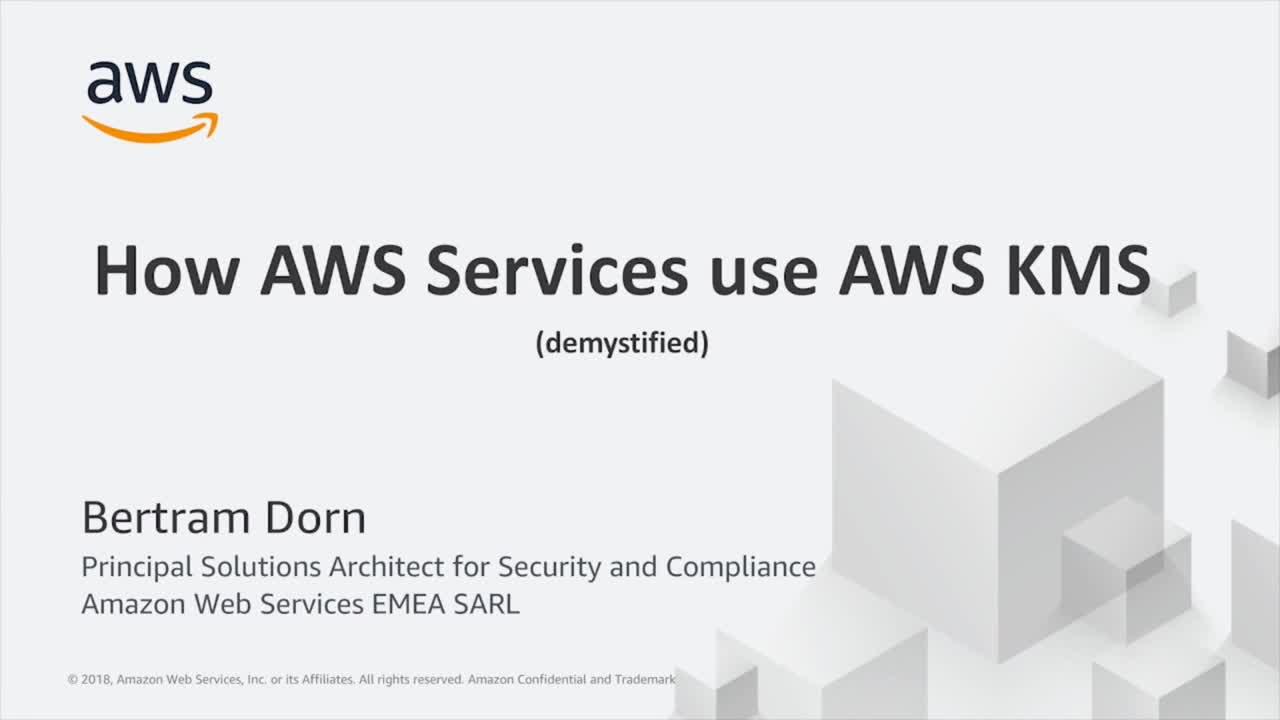 Wie AWS Dienste die Verschlüsselung implementieren