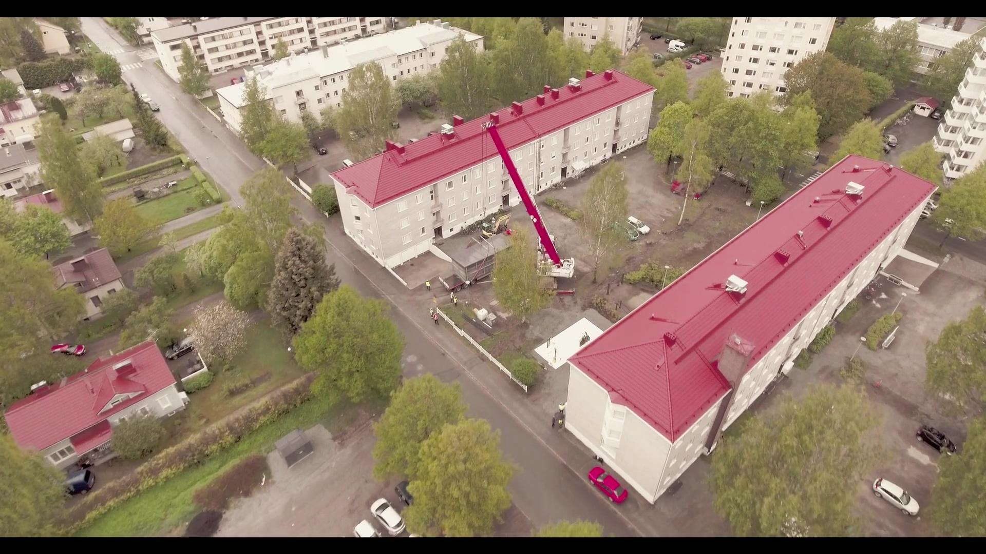 Hämeenlinnan asunnot Oy Parolantie LTO-laitteiden nosto