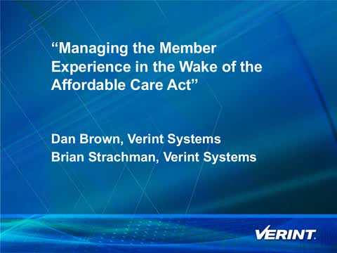 Managing the Member Experience in the Wake of the Affordable Care Act