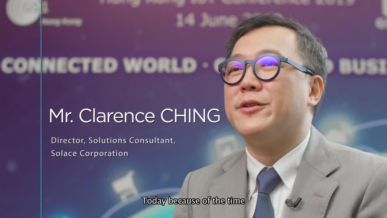 Clarence Ching at the Hong Kong IoT Conference 2019