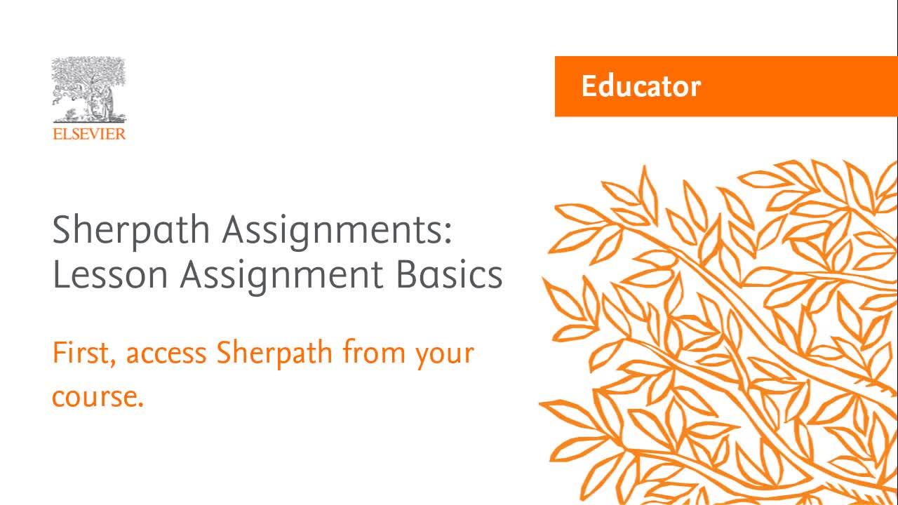 Sherpath - On Demand Learning | Elsevier Evolve